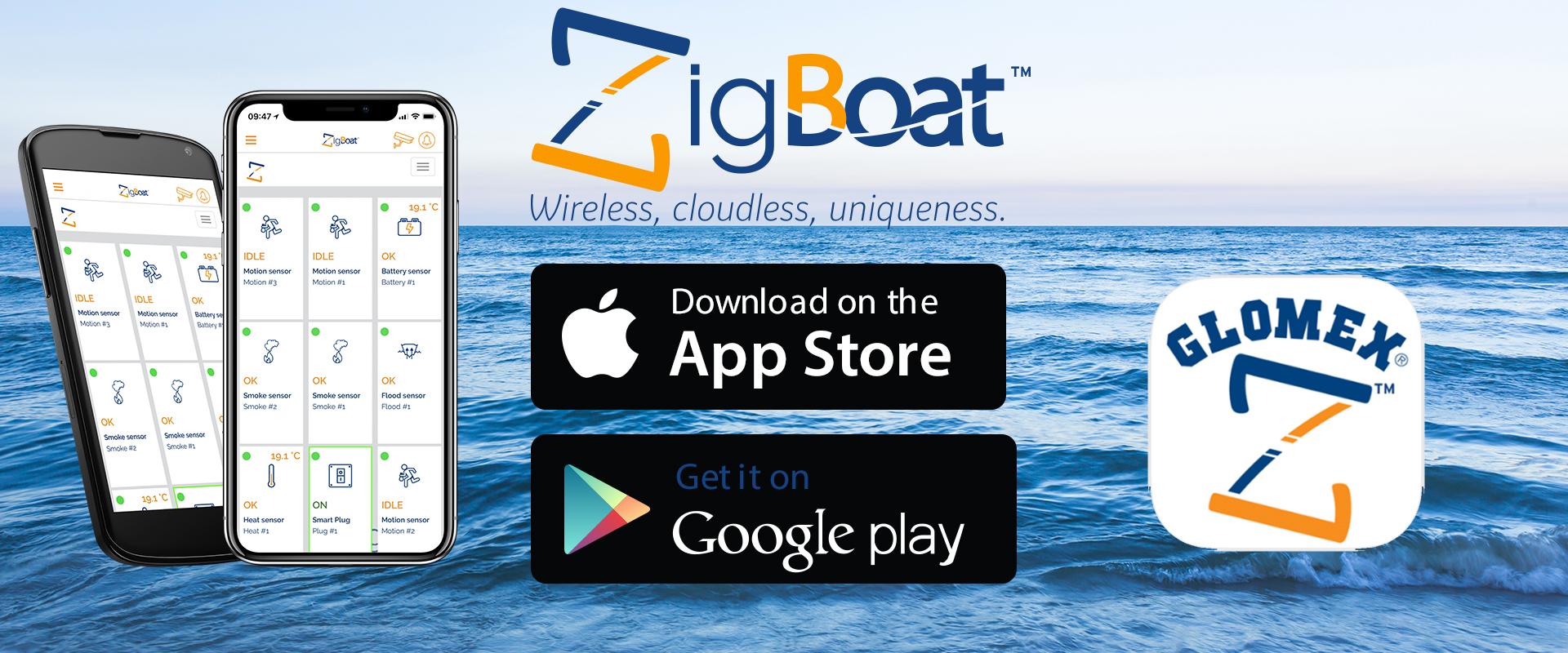 Glomex ZigBoat - Descargue la aplicación ZigBoat ahora